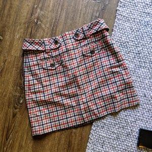 J Crew Plaid Wool Mini